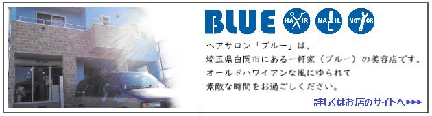 ヘアーサロン「ブルー」のお店ホームページへ